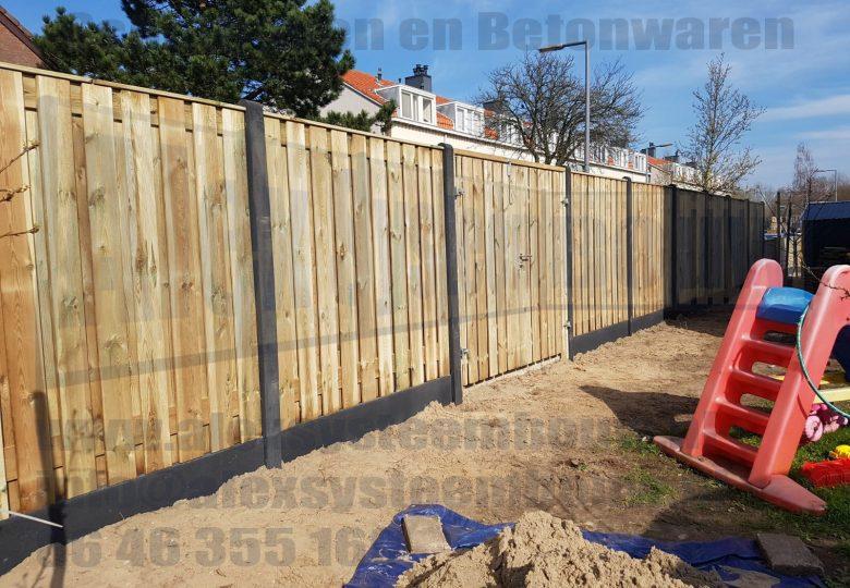 Dubbele poort met grenen hout 2x 100cm breed