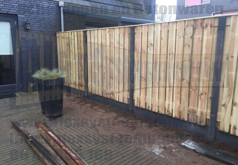 Schutting met 23 planks grenen tuinschermen
