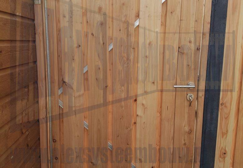Enkele poort met lariks/douglas hout 100cm breed