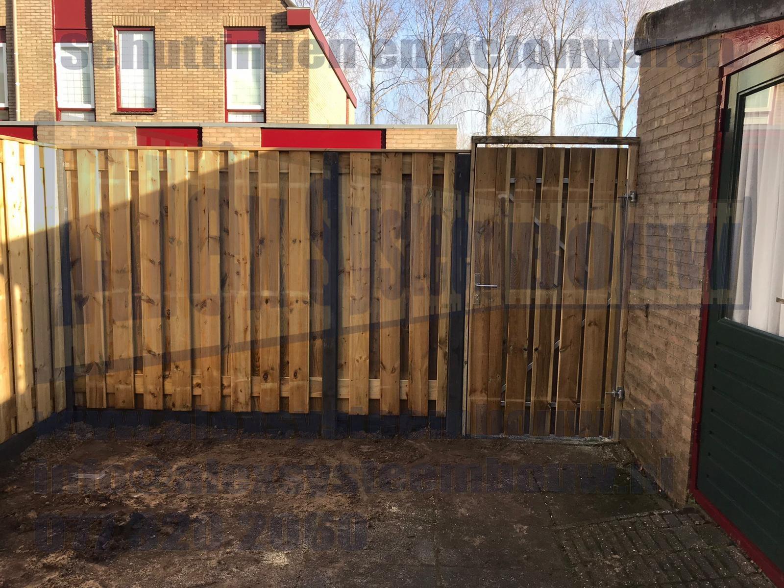 Schutting 19 planks tuinschermen incl. poort